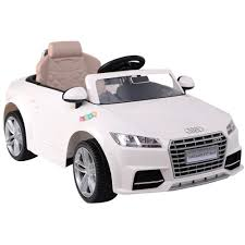 audi tt electric audi tt rs white electric ride on car electric ride on