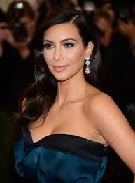 parting hair when braiding a ball kim kardashian s wavy side parted hairstyle at met ball 2014