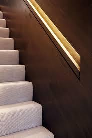 hidden stair handrail lighting installation stair handrail