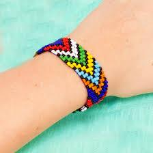 looms bracelet easy images Tribal design loom bracelet jpg