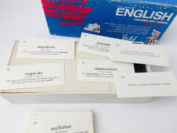 Crafters Supply Vintage 80s Vis Ed English Vocabulary Cards Vintage Vocabulary