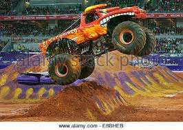 monster jam el toro loco damon bradshaw driver stock photo