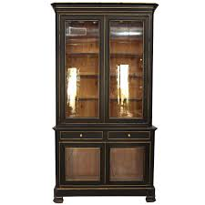 China Cabinets With Glass Doors Napoleon Iii Ebonized China Cabinet At 1stdibs