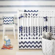 Zig Zag Crib Bedding Set Zig Zag Baby Crib Bedding Set In Navy Rosenberryrooms