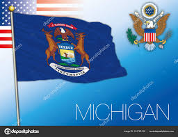 Michigans Flag Michigan Federal State Flag United States U2014 Stock Vector Frizio