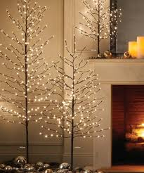 white tree with lights interior bare branch christmas tree with lights diy artificial