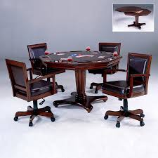 Lowes Office Chairs by Shop Hillsdale Furniture Ambassador Rich Cherry Round Wood Poker