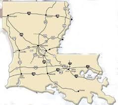louisiana highway map map of louisiana