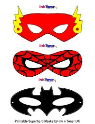 printable superhero masks for super hero day inkntoneruk blog