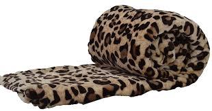Leopard Print Chaise Amazon Com Fancy Collection Queen Size Animal Print Fleece Super