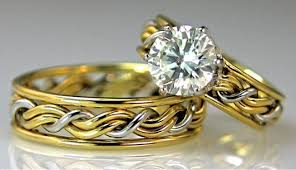 christian wedding rings sets braided engagement ring gallery