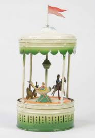 up for auction antique tin plate carousels amusing the zillion