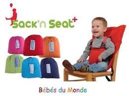 chaise bébé nomade bébé chaise haute nomade portable sécurité sack n seat ebay