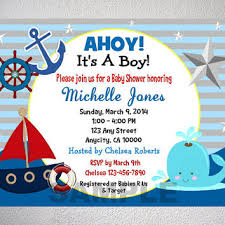 nautical design baby baby shower invitation templates nautical theme baby shower