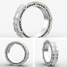 stargate wedding ring stargate engagement rings epic geekdom