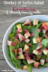 turkey and swiss salad with cranberry citrus vinaigrette recipe