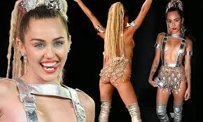 bare breasted miley cyrus is a bare breasted barbarella at mtv vmas miley