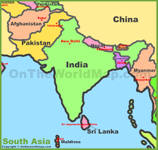 Countries Map Download South Asia Countries Map Major Tourist Attractions Maps