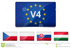 v4 visegrad group country flag stock vector image 41969124
