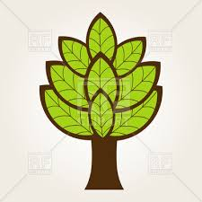 simple stylish tree icon vector clipart image 22388 rfclipart