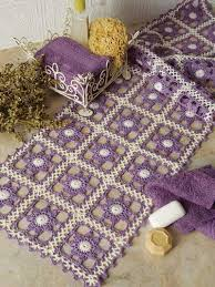 Kitchen Table Runners by Crochet Home U0026 Kitchen Kitchen Table Toppers Lilac