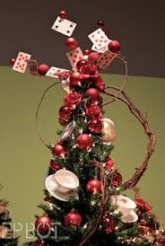 alice in wonderland mad hatter hat christmas tree topper made