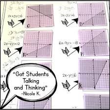 graphing linear inequalities card match activity by amazing
