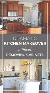 dramatic kitchen renovation without removing cabinets rustic