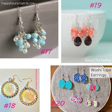 easy earrings 20 easy diy earring tutorials