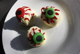 bloodshot eyeball truffles for halloween recipes from a normal mum