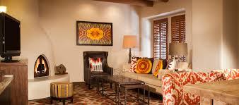 A Fireplace Center Patio Shop The Hilton Santa Fe Historic Plaza Hotel