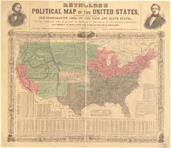 Confederate States Map by Monitor 150th Anniversary Civil War History