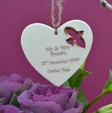 personalised wedding gifts personalised wedding gift decoration by carys boyle ceramics