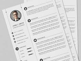 latest style of resume cv resume full set print template with ms word by daniel e graves