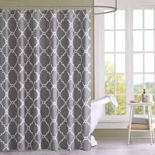 Gray Shower Curtains Fabric Brown And Gray Shower Curtain Curtains Ideas