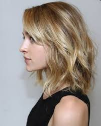collarbone length wavy hair lob haircut with bangs side google search hair beauty and
