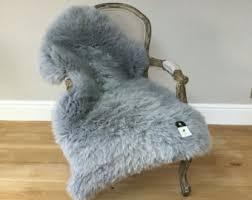Silver Grey Rug Gray Sheepskin Rug Etsy