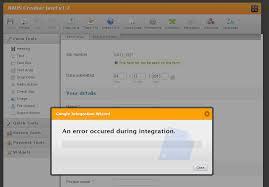 Spreadsheet Integration Spreadsheet Integration Error Jotform