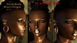 skyrim earrings hn66s earrings at skyrim nexus mods and community