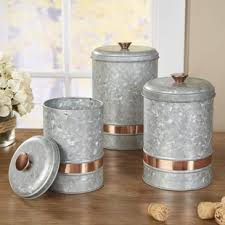 kitchen canisters galvanized canisters wayfair