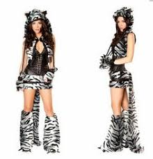 Leopard Costumes Halloween Party Furry Fancy Dress Cat Wolf Fox Animal Halloween Game