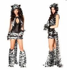 Halloween Cat Costumes Women Furry Valentine Faux Fur Womens Chester Cat Costume