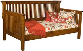 33 off mission day bed in oak solid wood amish furniture