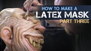 how to make a latex rubber mask part 3 patch paint u0026 finish