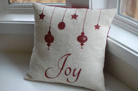 joy burlap christmas pillow joy pillow cover ornament