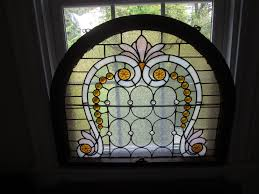 antique stained glass transom window c 1890 victorian antique stained glass display window 30 jewels