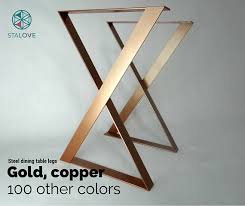 copper color table legs 28x20 steel table base