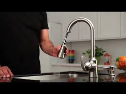 moen aberdeen kitchen faucet moen sullivan one handle pull out kitchen faucet with reflex at