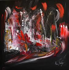 Tableau Abstrait Rouge Et Gris by Tableau Abstrait Contemporain Moderne Noir Blanc Rouge
