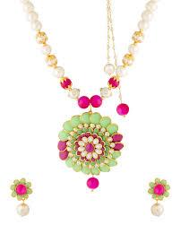 light pink necklace images Buy designer necklace sets light green dark pink white pearl jpg